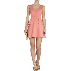 BCBGMaxAzria Leeann lace applique dress